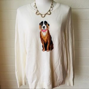 Charter Club sweater with dog